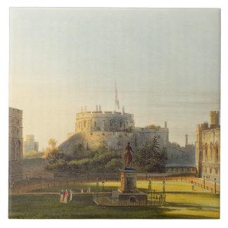 The Upper Ward, Windsor Castle, from 'Royal Reside Tile
