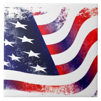 The USA flag flag Grand (15,2x15,2cm) Ceramic Tile