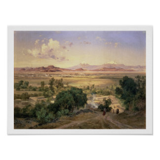 The Valley of Mexico from the Low Ridge of Tacubay Poster