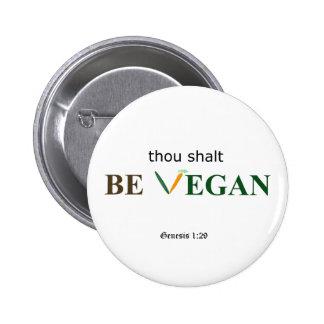 The Vegan Commandment button