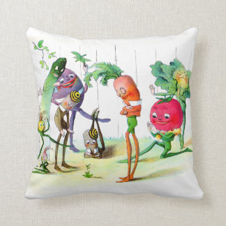 The Vege-Men's Revenge 2 Throw Pillow