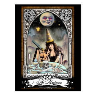 The Victorian Magician Tarot Card Postcard