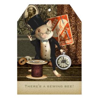 The Victorian Tailor Mouse 13 Cm X 18 Cm Invitation Card