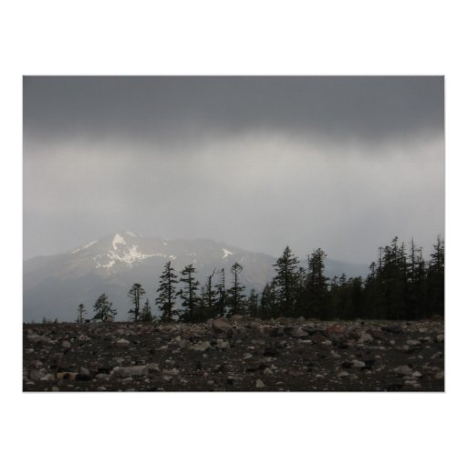 The View from Mt Shasta - Poster