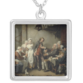 The Village Agreement, 1761 Silver Plated Necklace