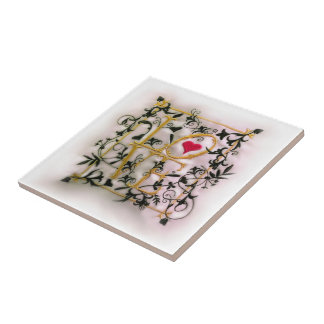 The Vines of Love Small Square Tile