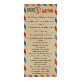 The Vintage Airmail Wedding Collection Customised Rack Card