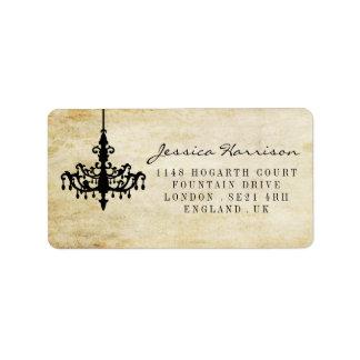 The Vintage Chandelier Wedding Collection Address Label