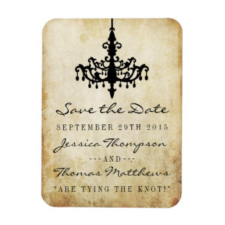 The Vintage Chandelier Wedding Collection Magnet