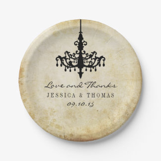 The Vintage Chandelier Wedding Collection Paper Plate