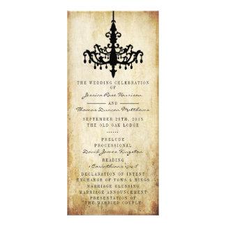 The Vintage Chandelier Wedding Collection Rack Card Design