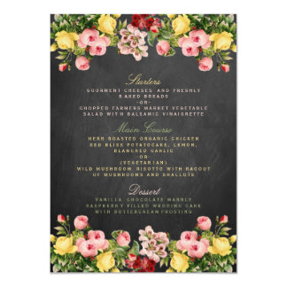 The Vintage Floral Chalkboard Wedding Collection 11 Cm X 16 Cm Invitation Card