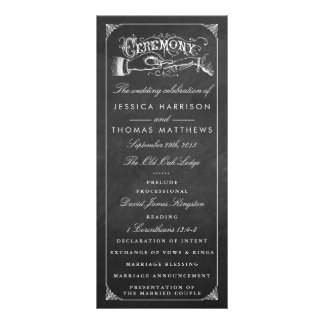 The Vintage Marriage Chalkboard Wedding Collection Full Colour Rack Card