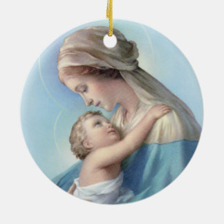 The Virgin and Child Christmas Ornament