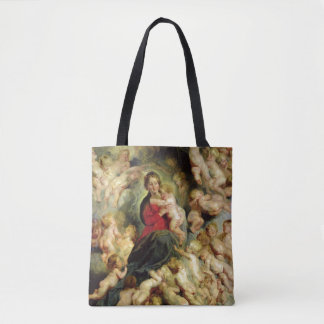 The Virgin and Child surrounded Tote Bag