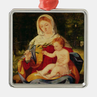 The Virgin and Child with a shoot of Olive Christmas Ornament