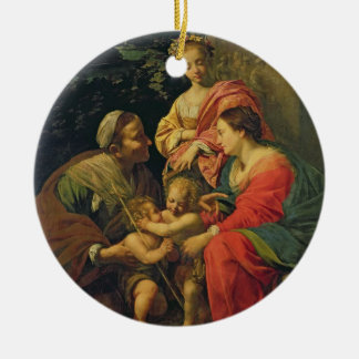 The Virgin and Child with St. Elizabeth, the Infan Christmas Ornament