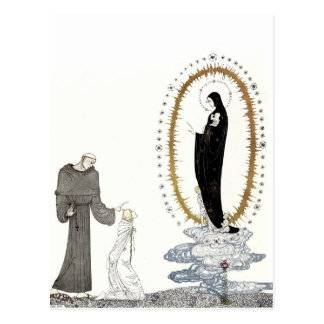 The Virgin Mary Returns the Young Queen's Babies Postcard