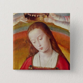 The Virgin Mary with her Crown 15 Cm Square Badge