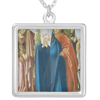 The Virgin Mary with St. John the Evangelist Silver Plated Necklace