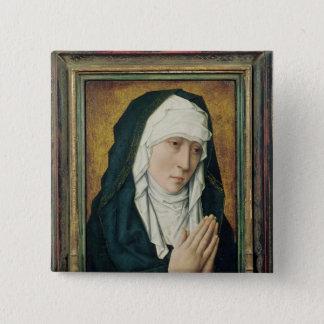 The Virgin of Sorrow 2 15 Cm Square Badge