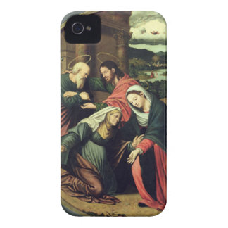 The Visitation (oil on panel) 2 iPhone 4 Case