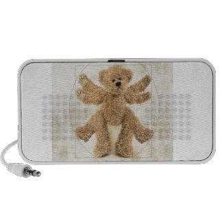 The Vitruvian Bear Laptop Speakers