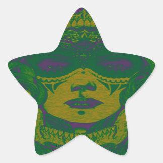 THE VOODOO GREEN STAR STICKER