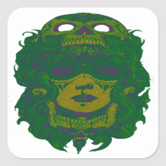 THE VOODOO GREEN STICKERS