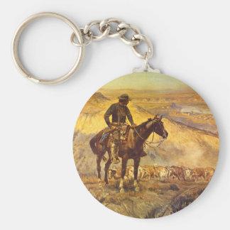 The Wagon Boss', Charles M_Great Work of Art Key Ring