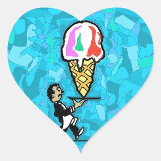 The Waiter. Heart Sticker