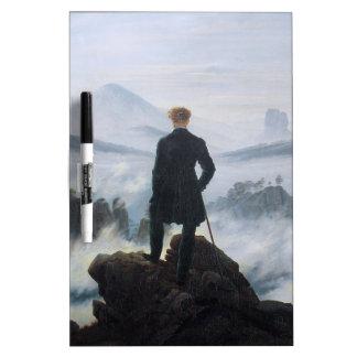The wanderer above the sea of fog by Caspar David Dry Erase Board