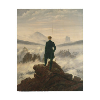 The Wanderer above the Sea of Fog Wood Wall Art