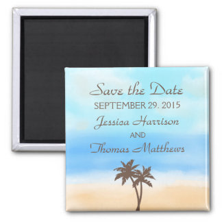 The Watercolor Beach Wedding Collection Magnet