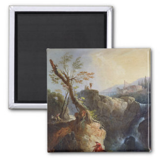 The Waterfall, 1773 Square Magnet