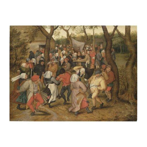 The Wedding Feast Wood Canvas