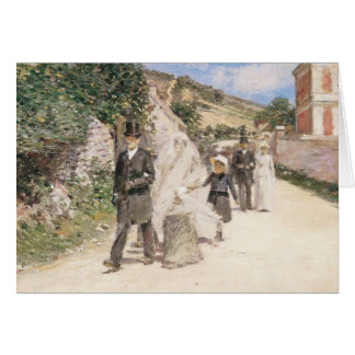The Wedding March by Theodore Robinson, Newlyweds Greeting Card