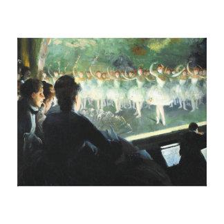 The White Ballet Canvas Print