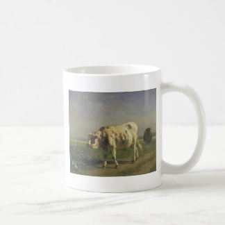 The white bull by Constant Troyon Coffee Mug