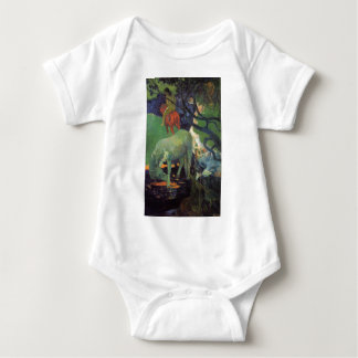 The White Horse by Paul Gauguin Baby Bodysuit