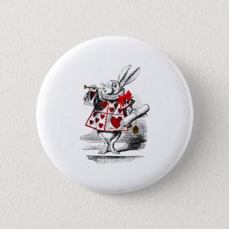 The White Rabbit 6 Cm Round Badge