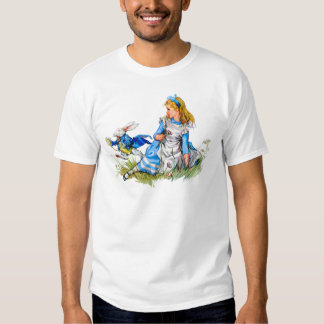 The white rabbit races by Alice - he's late! Tee Shirt