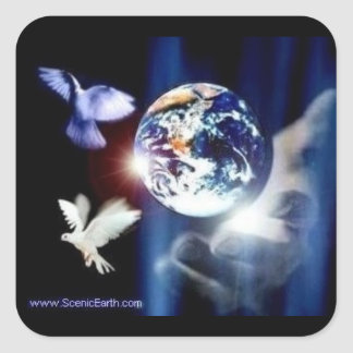 The whole world in His Hands peace earth sticker