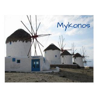 The Windmills, Mykonos, Greece Postcard