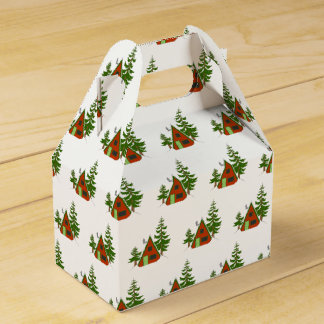 The Winter: Holiday Cabin Pattern Gift Box