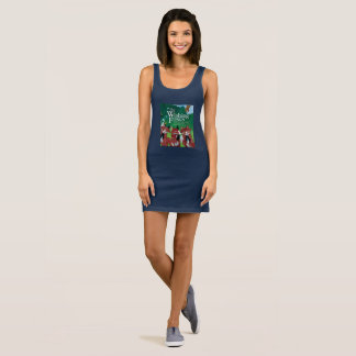 """The Wishing Foxes"" Sleeveless Dress"