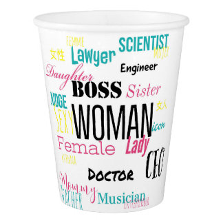 THE WOMAN CUP 9 oz (white)