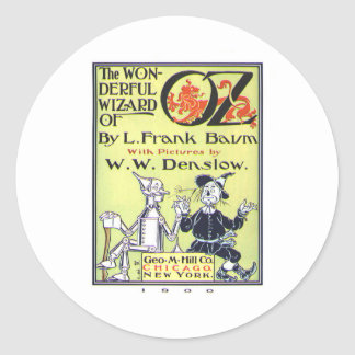 the wonderful wizard of oz classic round sticker
