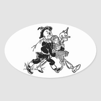 The Wonderful Wizard of Oz Oval Sticker