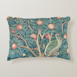The Woodpecker Tapestry, detail of the woodpeckers Decorative Cushion